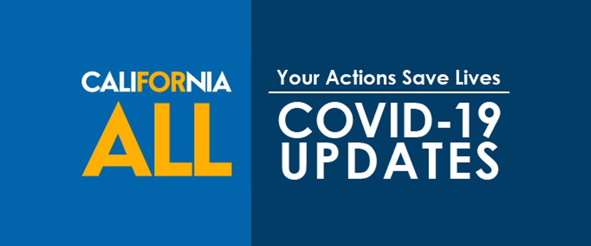 Logo that says California for All with COVID-19 Updates
